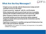 what are the key messages