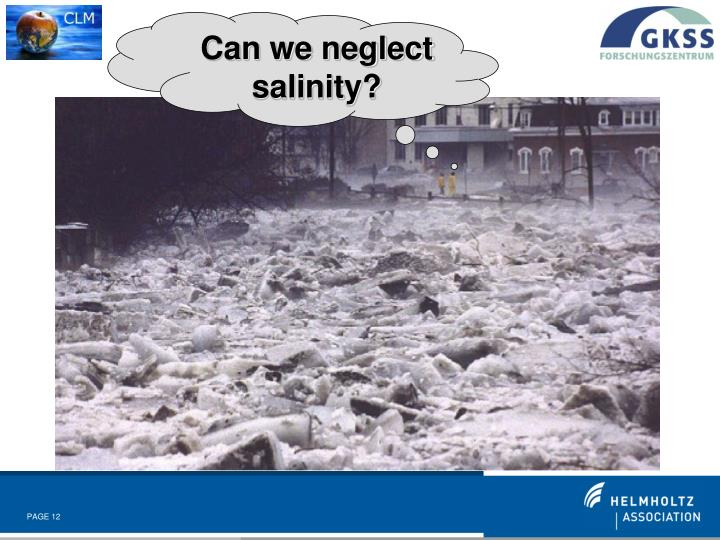 Can we neglect salinity?