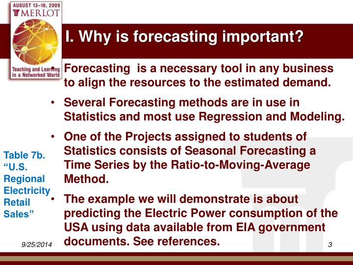 I why is forecasting important