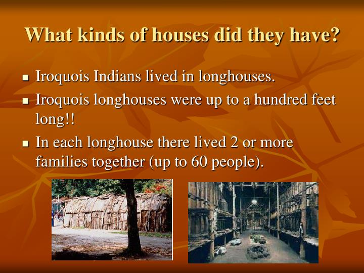 What kinds of houses did they have?