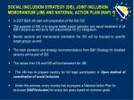 s ocial i inclusion s trategy sis joint inclusion memorandum jim and national action plan nap 3