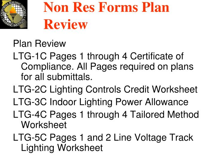 Non Res Forms Plan Review