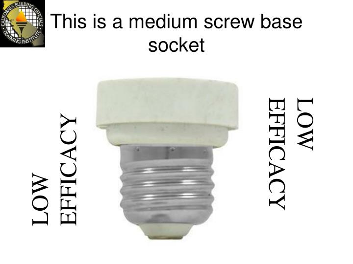 This is a medium screw base socket