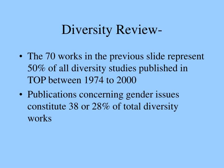 Diversity Review-