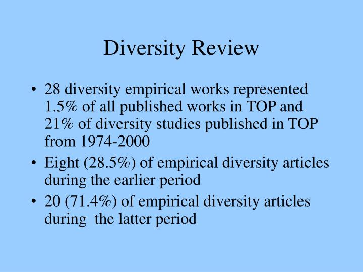 Diversity Review