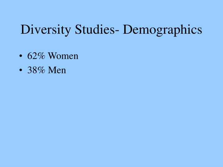 Diversity Studies- Demographics