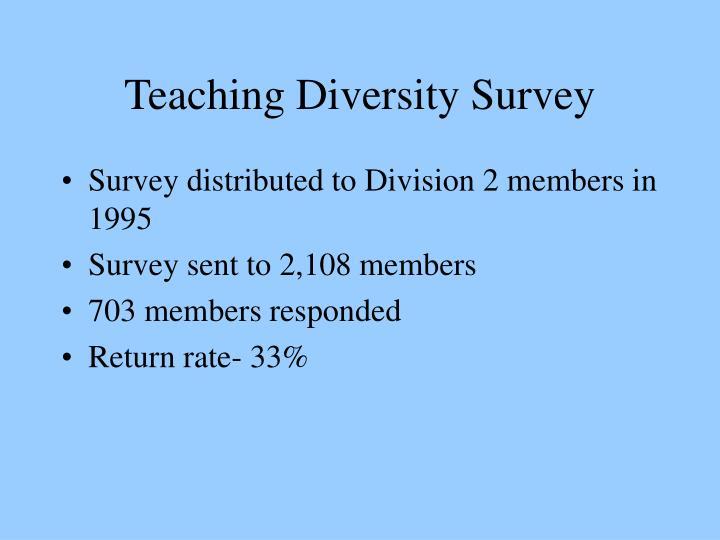Teaching Diversity Survey