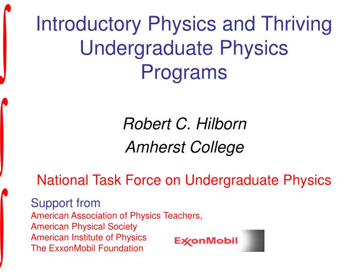 introductory physics and thriving undergraduate physics programs n.