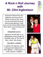 a rock n roll journey with mr clint ingbretson