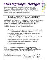 elvis sightings packages