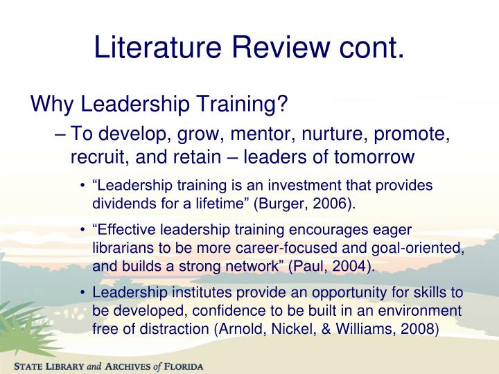 subject leadership review of literature Literature review: e-leadership probal dasgupta regent university this article reviews existing literature on e-leadership and the attendant concept of virtual teams.