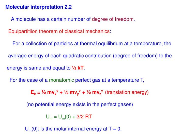 Molecular interpretation 2.2