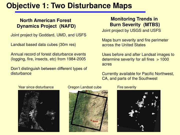 Objective 1: Two Disturbance Maps