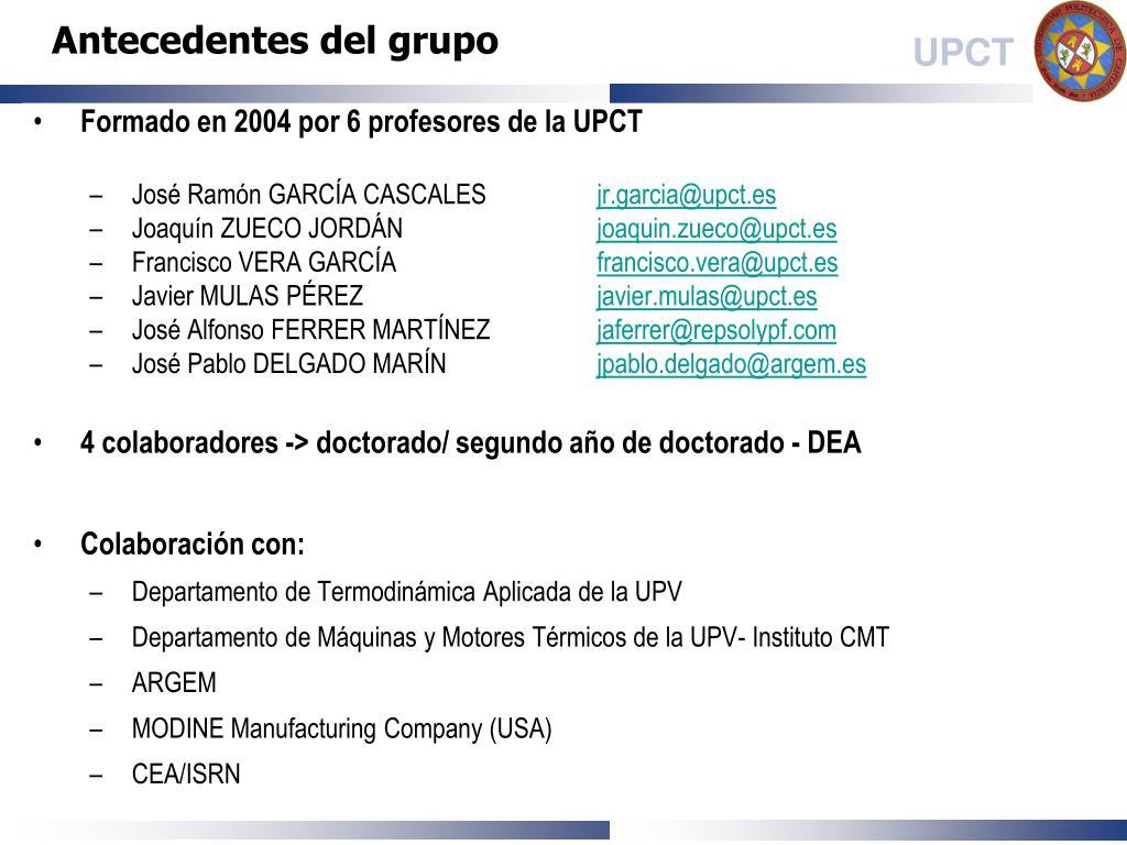 Babosa de mar Subir y bajar Redondo  PPT - Universidad Politécnica de Cartagena Departamento de ...