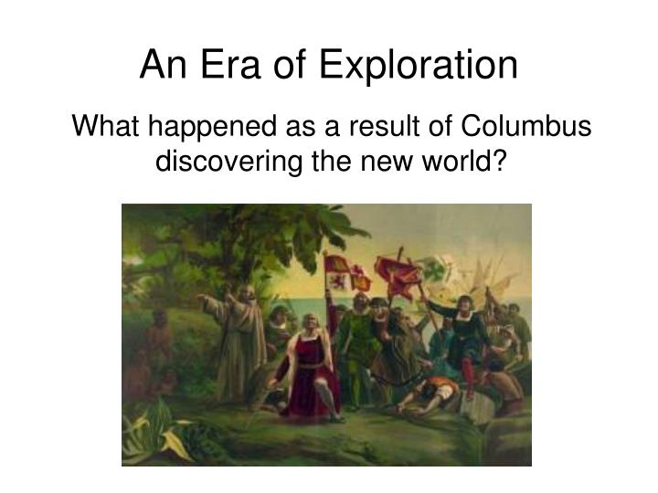 an era of exploration n.