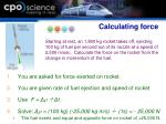 calculating force
