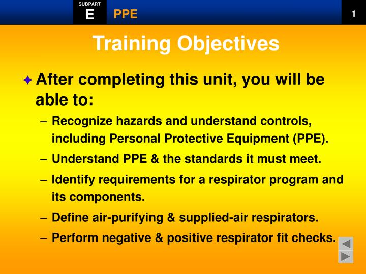 Personal Protective Equipment Training Ppt - Best Equipment In The World