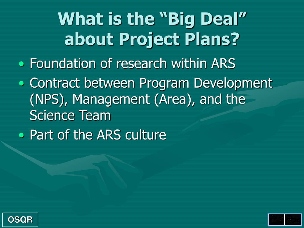 Project Plans Point Presentation