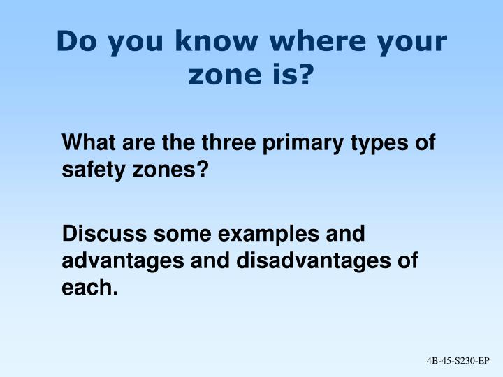 Do you know where your zone is?