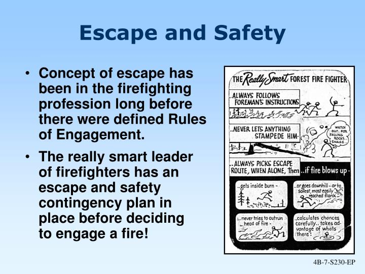 Escape and Safety