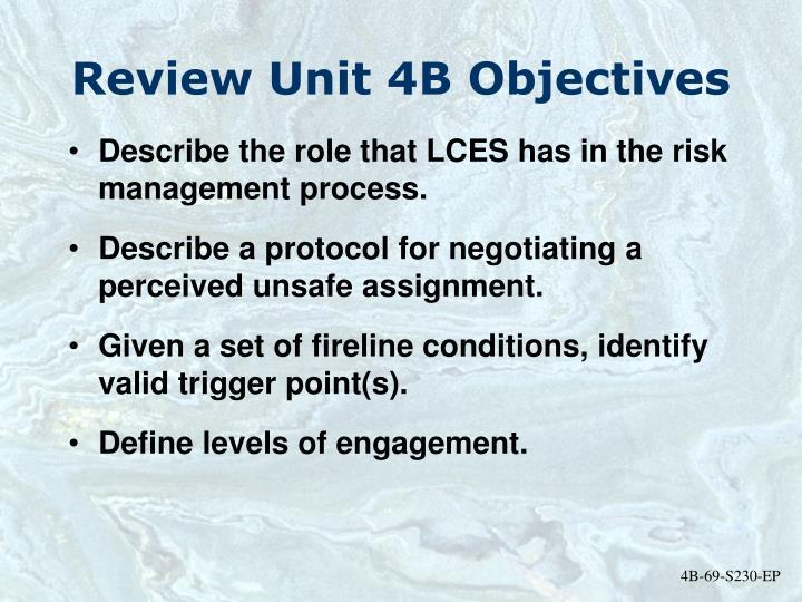 Review Unit 4B Objectives