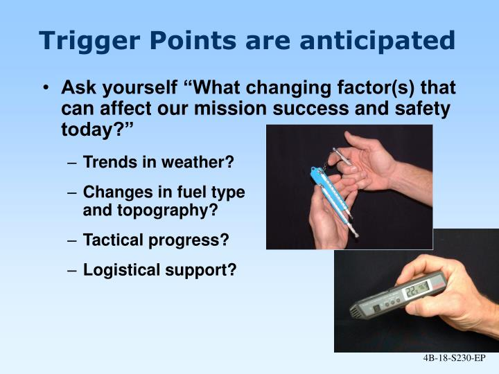 Trigger Points are anticipated