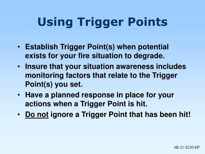 Using Trigger Points