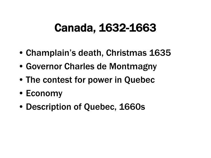 Canada, 1632-1663