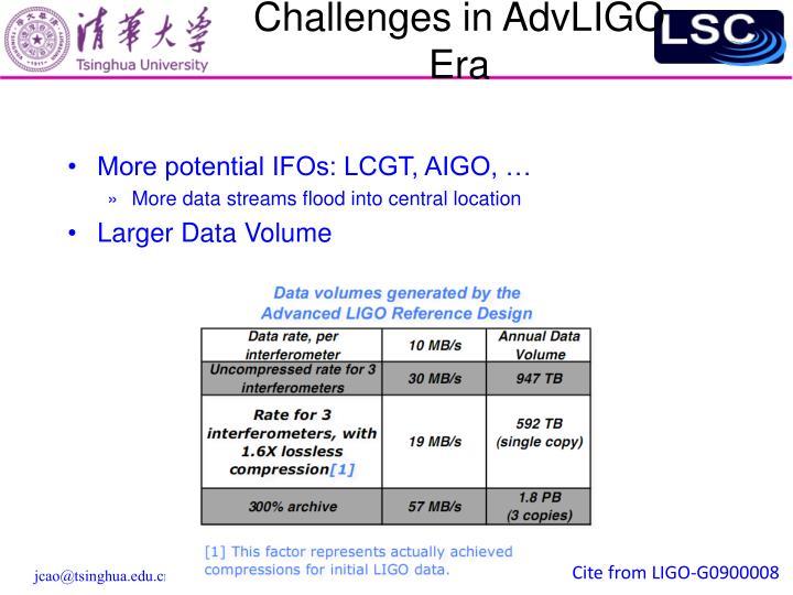 Challenges in AdvLIGO Era