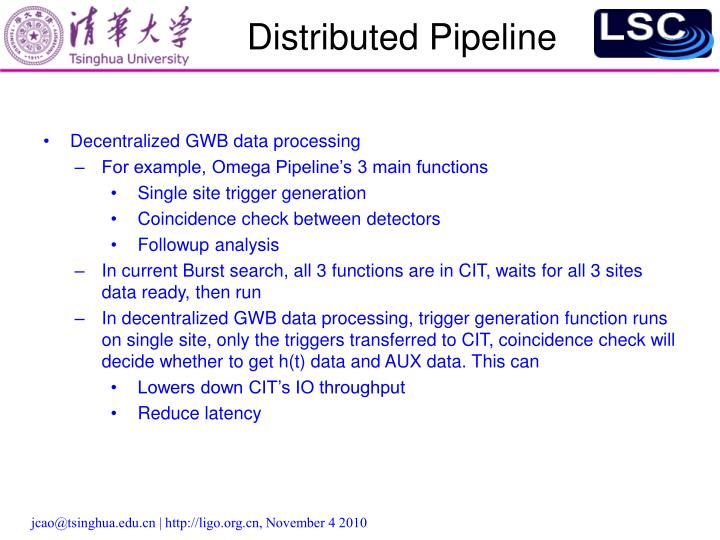 Distributed Pipeline