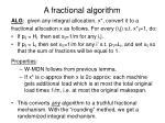 a fractional algorithm1