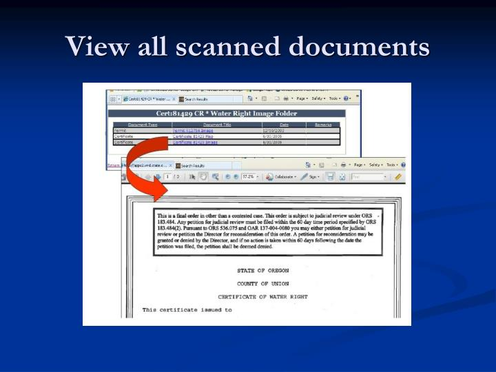View all scanned documents