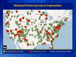 national parks survey in september