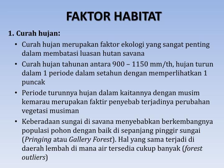 FAKTOR HABITAT