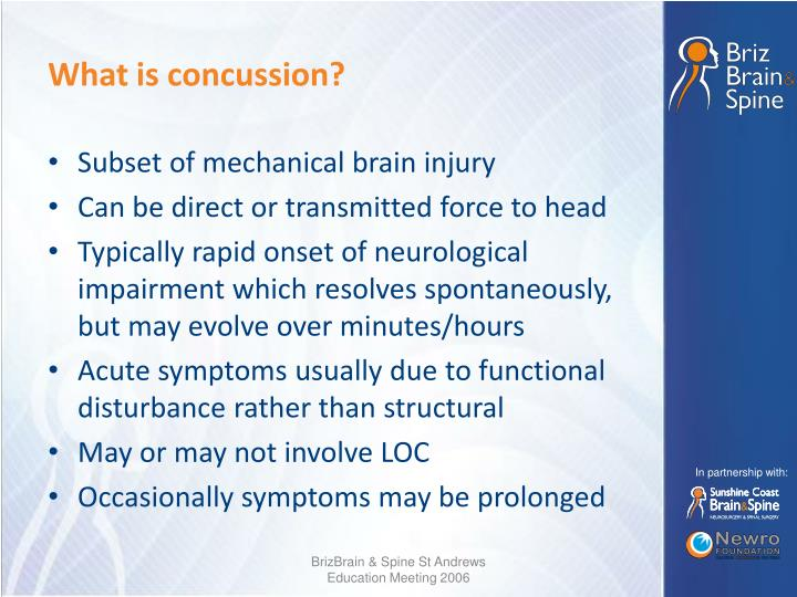 What is concussion?