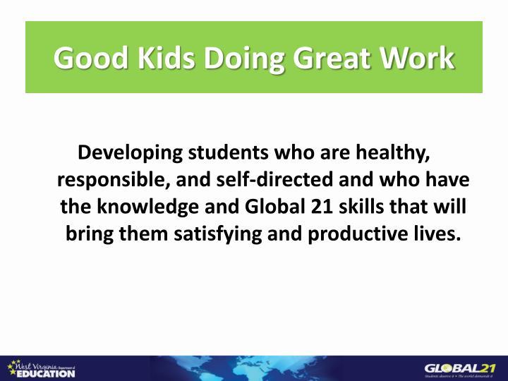 Good kids doing great work