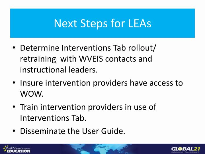 Next Steps for LEAs