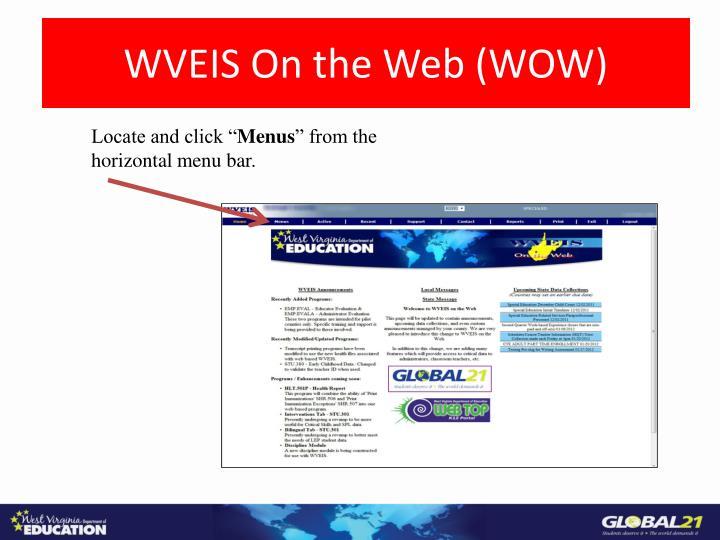 WVEIS On the Web (WOW)