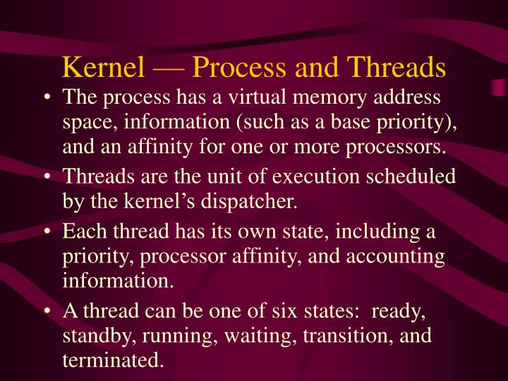 Kernel — Process and Threads