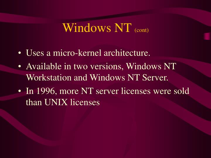 Windows nt cont