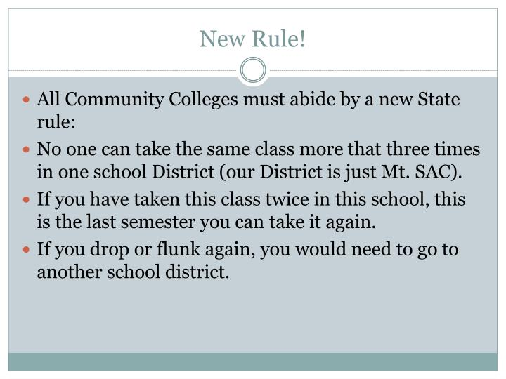 New Rule!