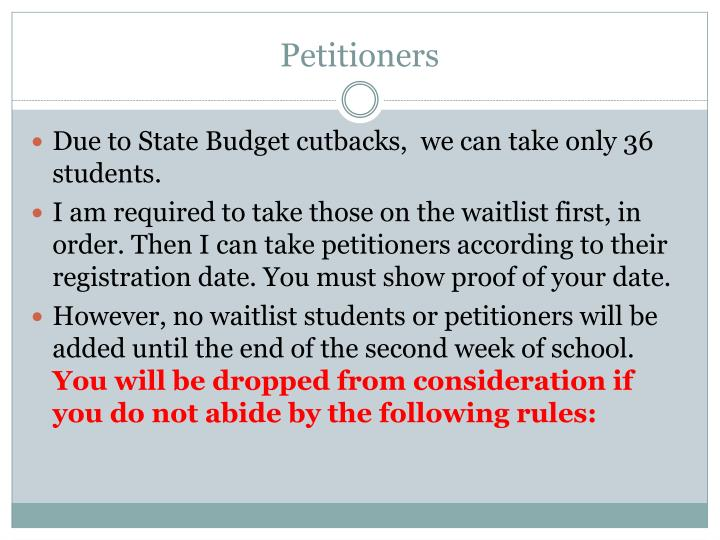 Petitioners