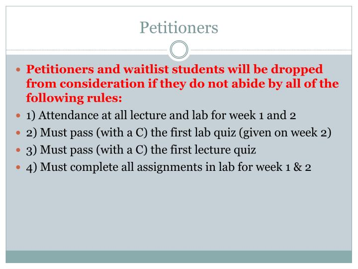 Petitioners1