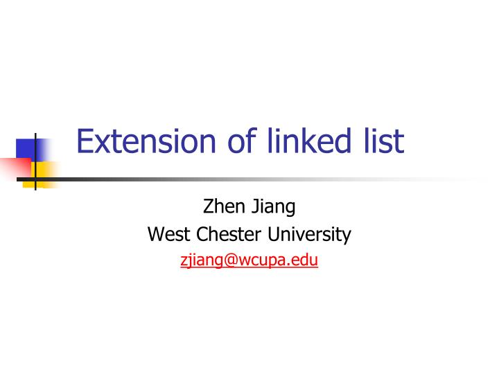 extension of linked list n.
