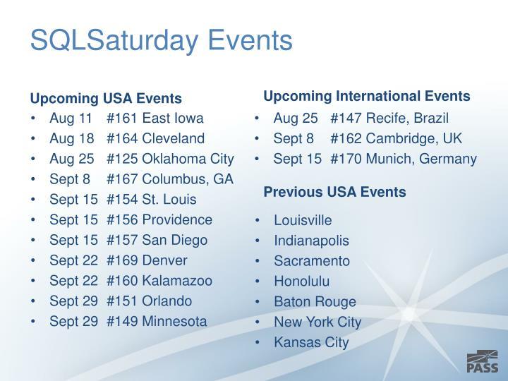 SQLSaturday Events