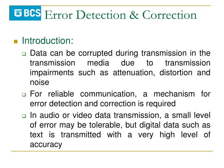 Error detection correction1