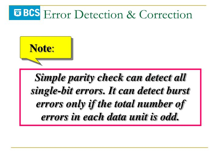 Error Detection & Correction