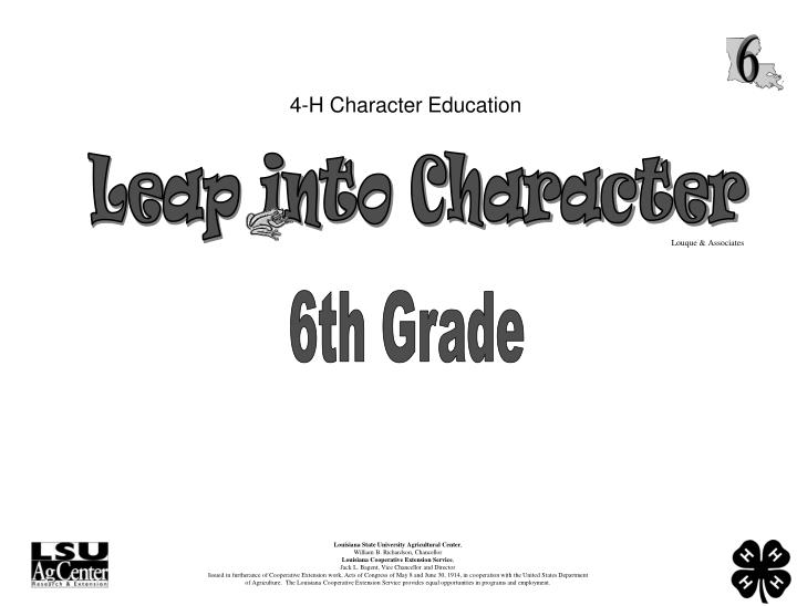 4 h character education n.