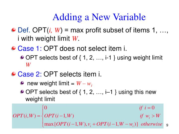 Adding a New Variable