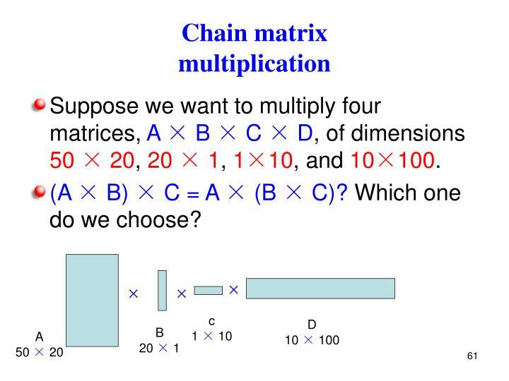 Chain matrix
